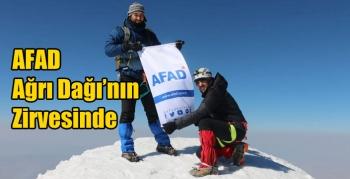 AFAD Ağrı Dağı'nın Zirvesinde