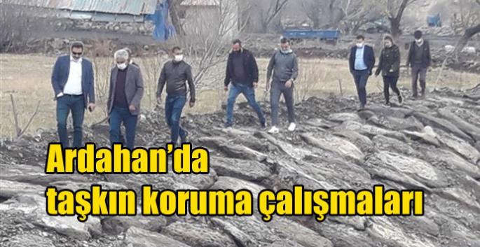 Ardahan'da taşkın koruma çalışmaları