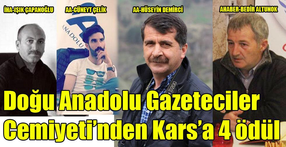 Doğu Anadolu Gazeteciler Cemiyetinden Kars'a 4 ödül