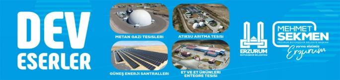 Erzurum'da dev eserler