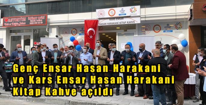 Genç Ensar Hasan Harakani ve Kars Ensar Hasan Harakani Kitap Kahve açıldı