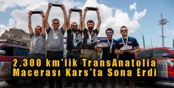 2.300 km'lik TransAnatolia Macerası Kars'ta Sona Erdi