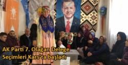 AK Parti 7. Olağan Delege Seçimleri Kars'ta başladı