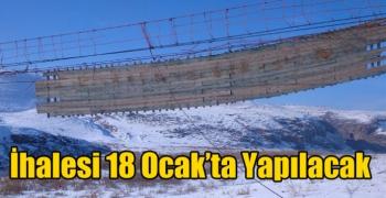 Akyaka Küçük Aküzüm Köyü Asma Köprünün İhalesi 18 Ocak'ta Yapılacak