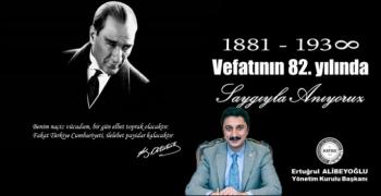 Başkan Alibeyoğlu'nun 10 Kasım Mesajı