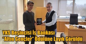 """Bursa'da 2020 YKS Beşincisi İş Bankası """"Altın Gençler"""" Ödülüne Layık Görüldü"""