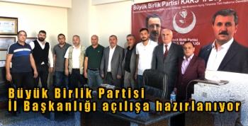 Büyük Birlik Partisi İl Başkanlığı açılışa hazırlanıyor