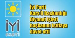 İyi Parti Kars İl Başkanlığı Diyanet işleri başkanını istifaya davet etti