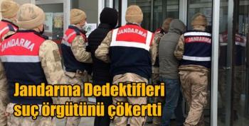 Jandarma Dedektifleri suç örgütünü çökertti