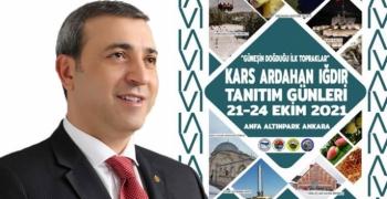 Kars Ardahan Iğdır Tanıtım Günleri 21-24 Ekim'de Ankara Anfa Altınpark'da