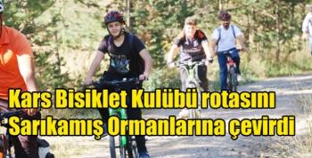 Kars Bisiklet Kulübü rotasını Sarıkamış Ormanlarına çevirdi