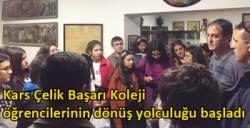 Kars Çelik Başarı Koleji öğrencilerinin dönüş yolculuğu başladı