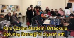 Kars Çözüm Akademi Ortaokulu Dolunay Derneği'ni ziyaret etti