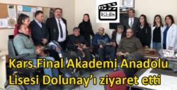 Kars Final Akademi Anadolu Lisesi Dolunay'ı ziyaret etti