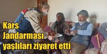 Kars Jandarması yaşlıları ziyaret etti