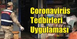 Kars Jandarmasından Coronavirüs Tedbirleri Uygulaması