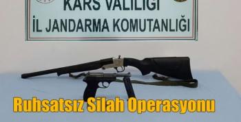 Kars Jandarmasından Ruhsatsız Silah Operasyonu