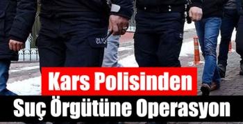 Kars Polisinden Suç Örgütüne Operasyon