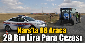 Kars'ta 88 Araca 29 Bin Lira Para Cezası