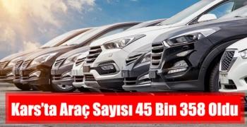 Kars'ta Araç Sayısı 45 Bin 358 Oldu