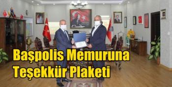 Kars'ta Başpolis Memuruna Teşekkür Plaketi
