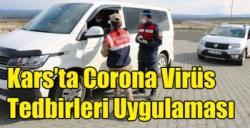 Kars'ta Corona Virüs Tedbirleri Uygulaması