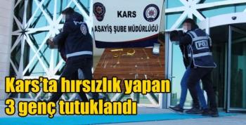 Kars'ta hırsızlık yapan 3 genç tutuklandı