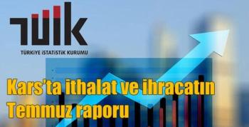 Kars'ta ithalat ve ihracatın Temmuz raporu