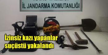 Kars'ta izinsiz kazı yapanlar suçüstü yakalandı