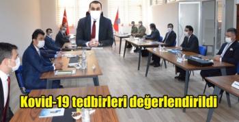 Kars'ta Kovid-19 tedbirleri değerlendirildi