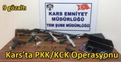 Kars'ta PKK/KCK Operasyonu 9 Gözaltı