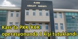 Kars'ta PKK/KCK operasyonunda 1 kişi tutuklandı