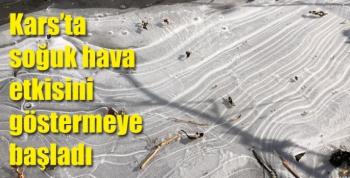 Kars'ta soğuk hava etkisini göstermeye başladı