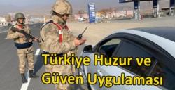 Kars'ta Türkiye Huzur ve Güven Uygulaması