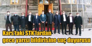 Kars'taki STK'lardan gece yarısı bildirisine suç duyurusu