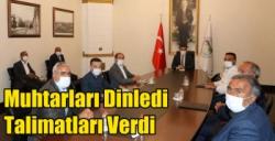 Kars Valisi Türker Öksüz Muhtarları Dinledi, Talimatları Verdi
