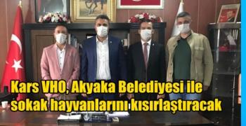 Kars VHO, Akyaka Belediyesi ile sokak hayvanlarını kısırlaştıracak