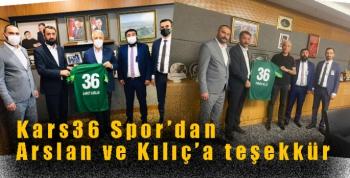 Kars36 Spor'dan Arslan ve Kılıç'a teşekkür