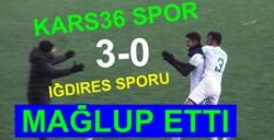 Kars36 Spor, Iğdıres Spor'u 3-0 mağlup etti