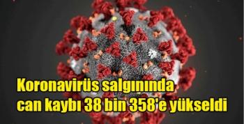 Koronavirüs salgınında can kaybı 38 bin 358'e yükseldi