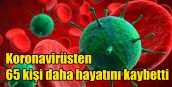 Koronavirüsten 65 kişi daha hayatını kaybetti