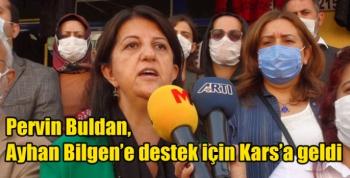 Pervin Buldan, Ayhan Bilgen'e destek için Kars'a geldi