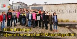 Selim Belediyesi öğrencilere Harp Tarihi Müzesini gezdirdi