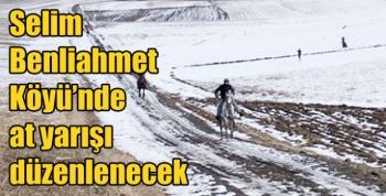 Selim Benliahmet Köyü'nde at yarışı düzenlenecek
