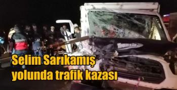Selim Sarıkamış yolunda trafik kazası