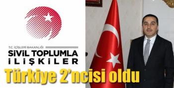 Türkiye 2'ncisi oldu