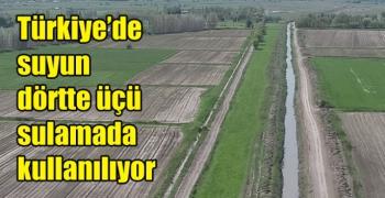 Türkiye'de suyun dörtte üçü sulamada kullanılıyor