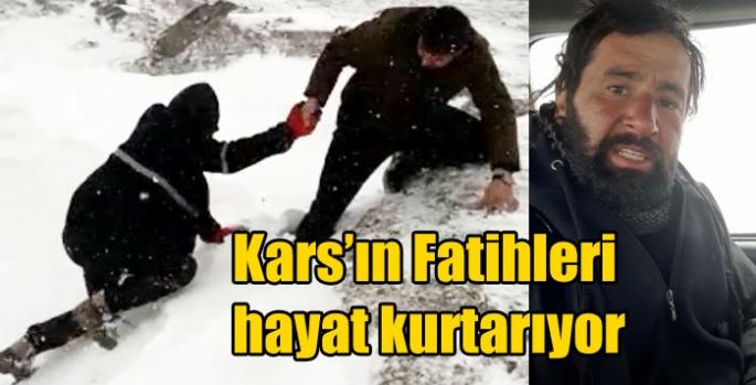 Kars'ın Fatihleri hayat kurtarıyor