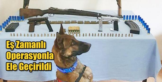 Kars Jandarması Ruhsatsız Silahları Eş Zamanlı Operasyonla Ele Geçirdi