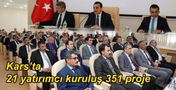 Kars'ta 21 yatırımcı kuruluş 351 proje